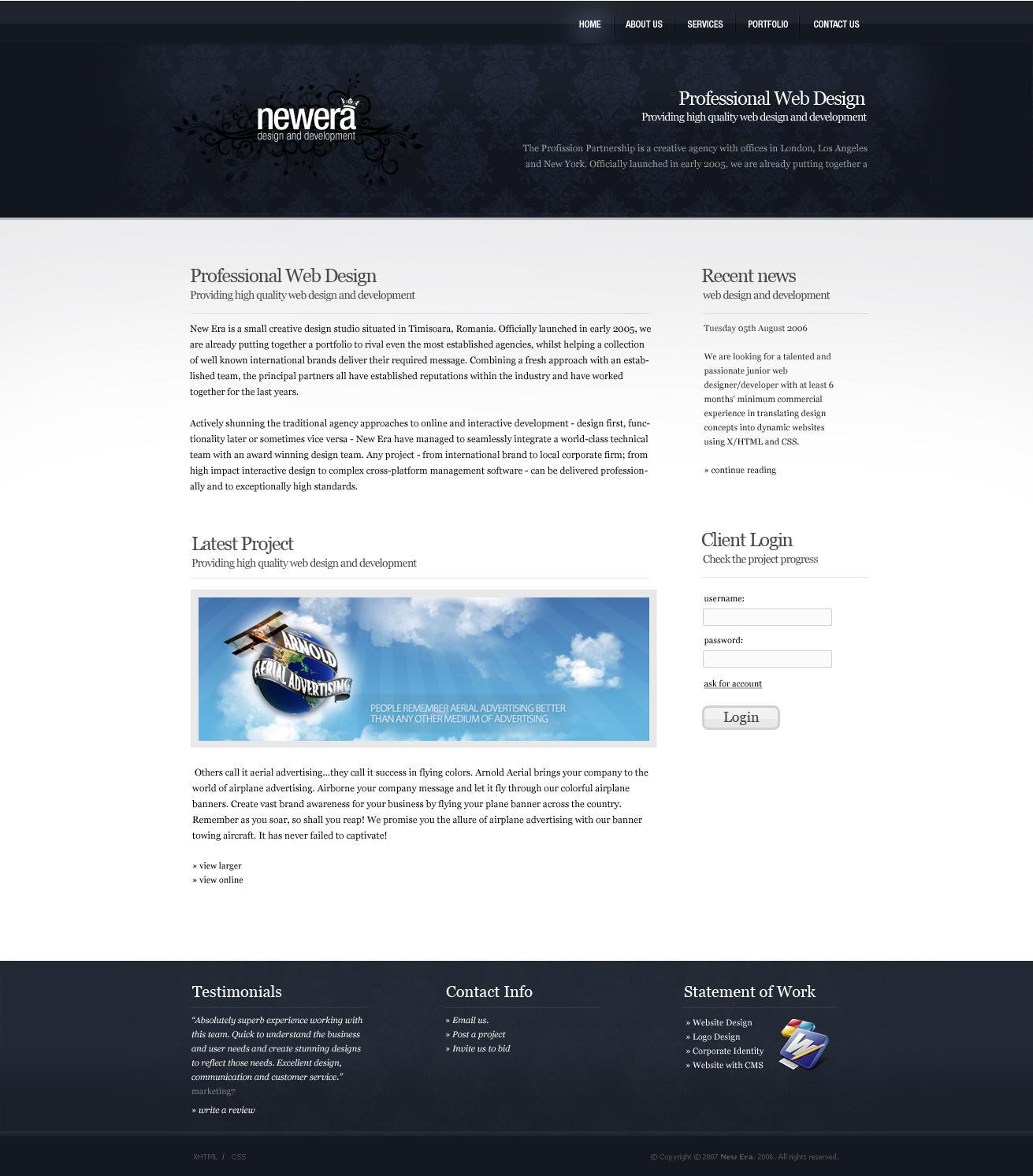 newera design studio site by neweradesign