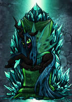 Chrysalis On Throne by Raenyras