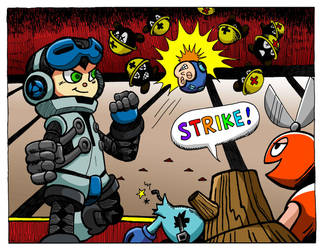 Mighty No. 9 vs Mega Man - Color variant 1 by mikematei