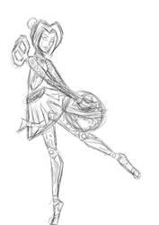 This is a very random Orianna tablet sketch by medli96