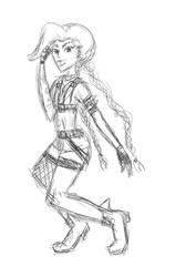 This is a random Jinx tablet sketch by medli96