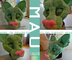 (WIP) Mau Fursuit Head by TECHNlCOLOUR