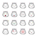 Set Of Smiley Cats by Inshader