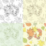 Autumn leaves seamless background by Inshader
