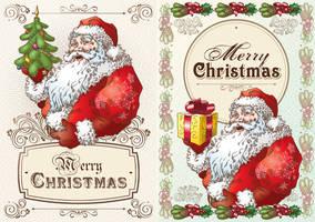 Christmas Postcard with Santa Claus by Inshader