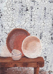 Bowls on a Table ATC by LuvLoz