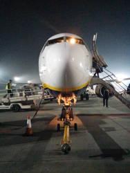 Aircraft at night by null00