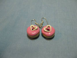 Strawb. Heart Frosted Earrings by okapirose