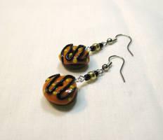 Halloween Doughtnut Earrings by okapirose