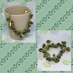 Green Donuts Bracelet by okapirose