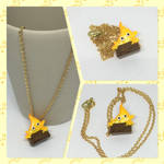 Calcifer Necklace by okapirose