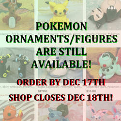Pokemon Ornaments 2018 by okapirose