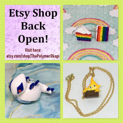 Etsy Shop Reopen 12/26/2018 by okapirose