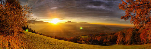 View from Gaisberg by MadMike27