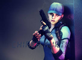 Jill Valentine And Pistol xD by mk-re55