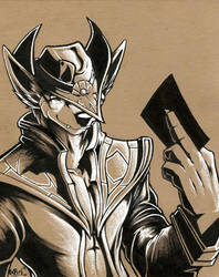 Twisted Fate sends you to the Shadow Realm by Boneitis