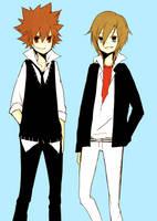 khr: basil and tsuna by tokoco