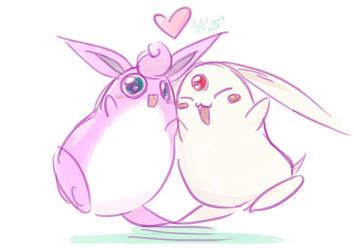 Wigglytuff and Mokona by Huild