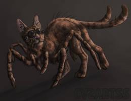 Creature challenge - Spider x cat by CasArtss