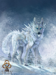 The snow wolf by CasArtss