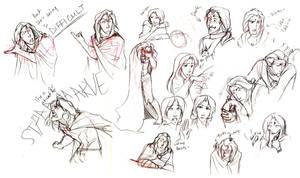 Prince-Beast and Belle doodles by Luna-Kitsune-Blu