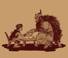 The Vikings Have Their Tea by Luna-Kitsune-Blu