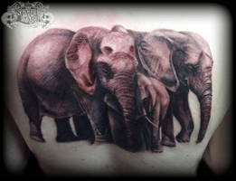 Elephants by state-of-art-tattoo