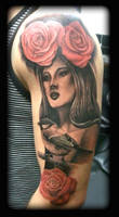 Half sleeve by state-of-art-tattoo