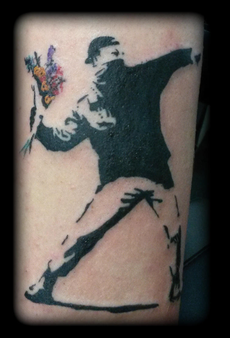 Banksy by state-of-art-tattoo