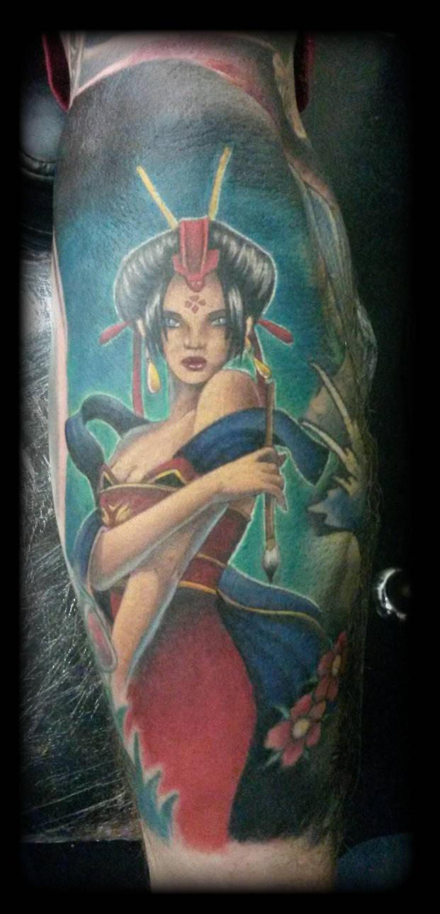 Geisha by state-of-art-tattoo