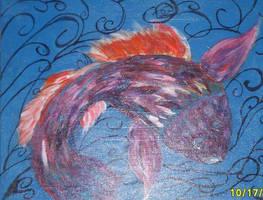Koi and Swirls by Jillian-Brannon