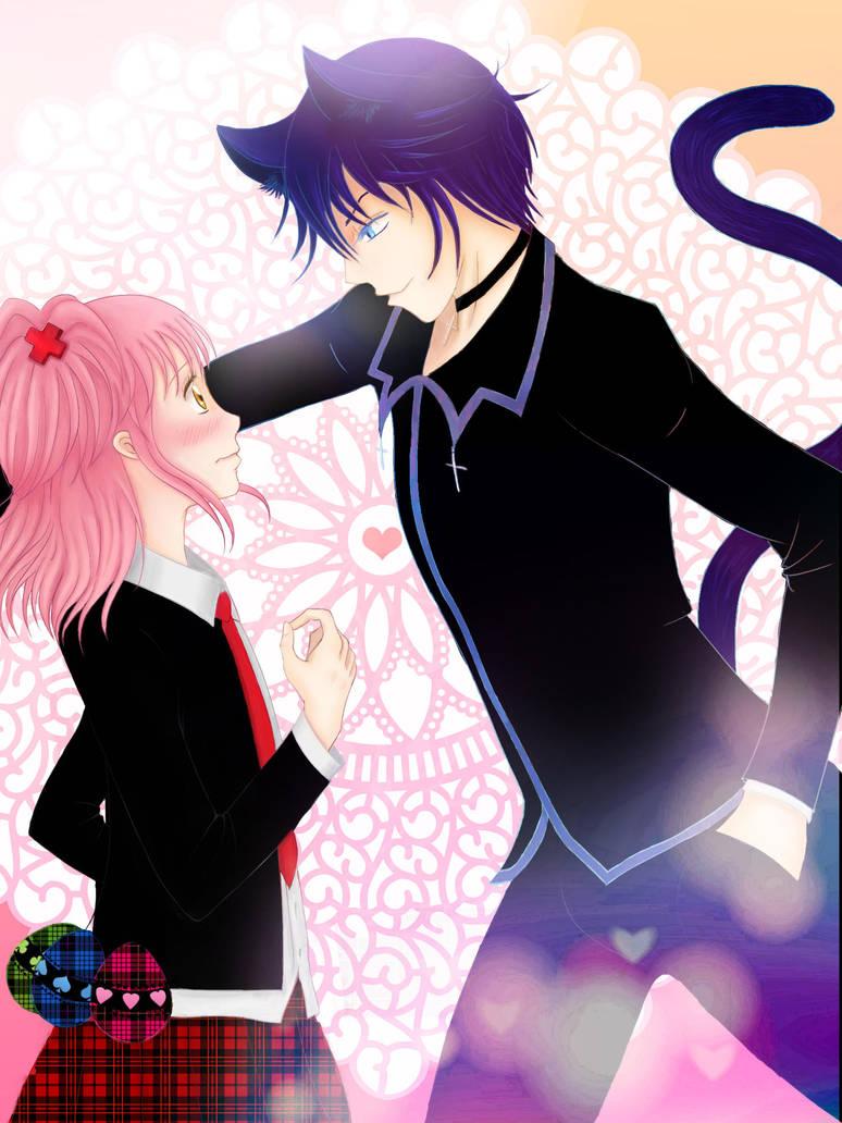 Amu and Ikuto by mewtamara