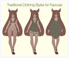 Traditional Clothing Styles for Faunuas by sidgreen01