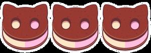 (F2U) Cookie Cat Page Deco by ScarletDestiney