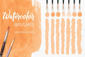 21 Watercolor Rastr  and Vector Brushes by VikToryDesign