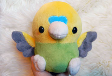Green and Yellow Budgie Plush by HobbaGobwin