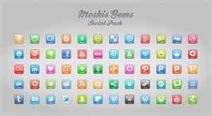 Moskis Gems Social pack 1 by Th3-ProphetMan