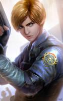Leon RE2 Remake's Fanart by Razaras