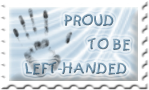 Proud to be left-handed stamp by Angi-Shy