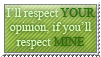 Opinion respecting - stamp by Angi-Shy