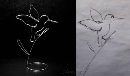 Wired humminbird by Angi-Shy