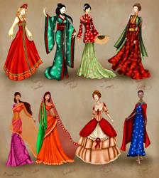 World Culture Costume Series by BasakTinli