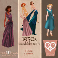 1930s Fashion Paper Dolls Dollys and Friends by BasakTinli