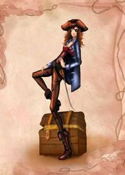 Pirate Illustration by BasakTinli by BasakTinli