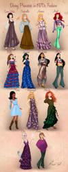 Disney Princesses in 1970s Fashion by Basak Tinli by BasakTinli