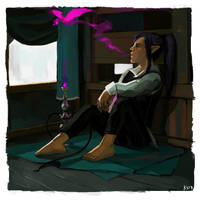 Lazarus and the Hookah Dragon by do-po