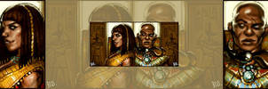Horus and Serqet by do-po
