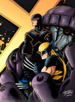 Cyclops and Wolverine by Lazaer