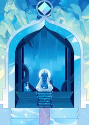 Blue Diamond's Bath | Background Speedpaint by KitsuneZakuro
