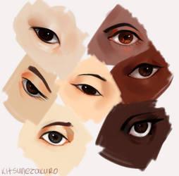 Eye guess some eyes huh? by KitsuneZakuro